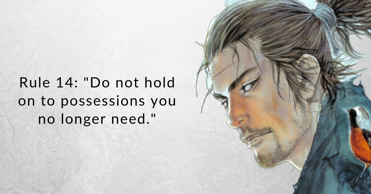 Once you learn Japanese Buddhist Master Miyamoto Mushashi's 21 rules of life, you'll be much stronger