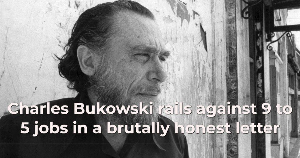 9-5 jobs, Charles Bukowski photo
