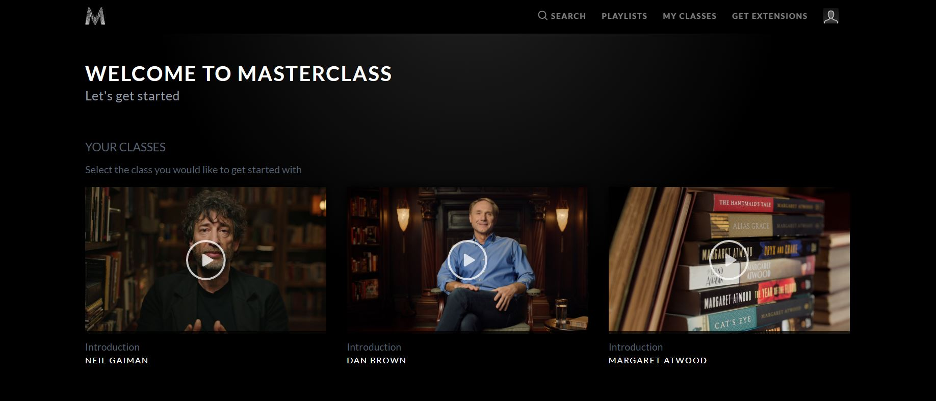 MasterClass reviews opening screen