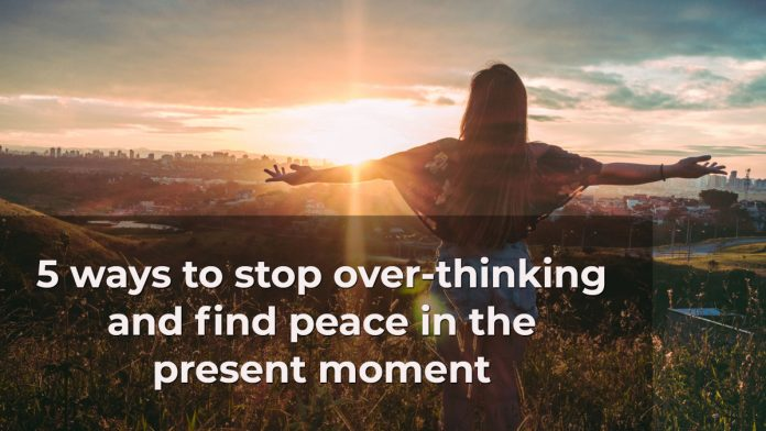 how to stop thinking at all